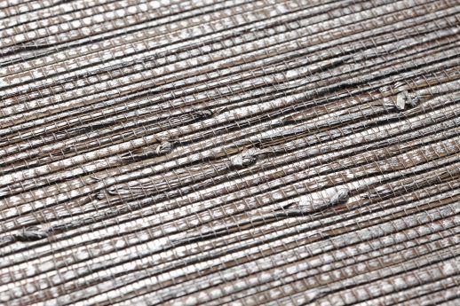 Papier peint Grasscloth 12 argenté Detailansicht