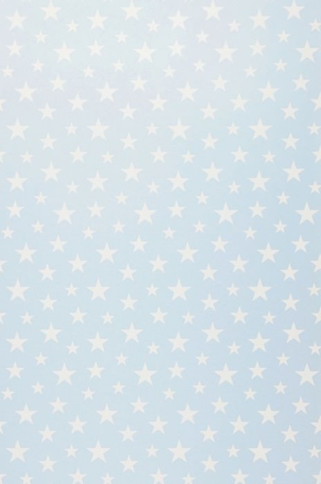 Papel de parede Little Stars Mate Estrelas Azulo claro Branco creme