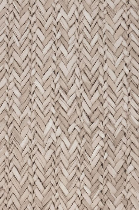 Maritime Wallpaper Wallpaper Rattan Effect light beige grey A4 Detail