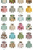 Wallpaper Robot Matt Robots White Yellow Green Light blue Orange