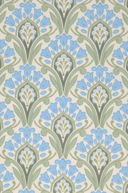 Papel de parede Florence azul pastel Detalhe A4
