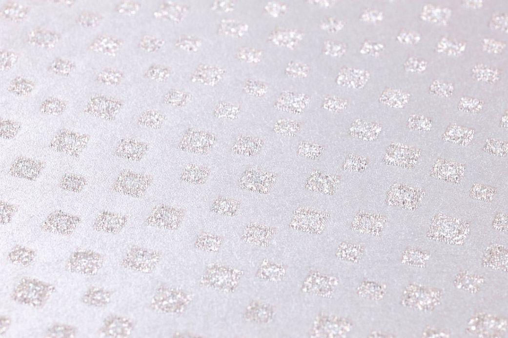 Papier peint géométrique Papier peint Christella rosé pâle chatoyant Vue détail