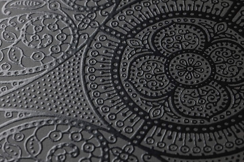Kassandra grigio scuro nero brillante carta da parati for Parati di carta