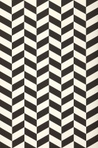 Wallpaper Angle Matt Geometrical elements Cream Black