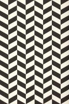 Wallpaper Angle Matt Geometrical elements Cream Black