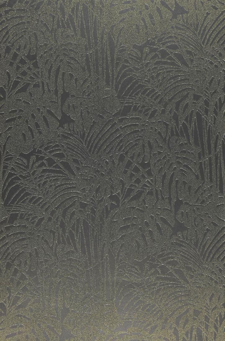 papier peint persephone noir or brillant argent. Black Bedroom Furniture Sets. Home Design Ideas