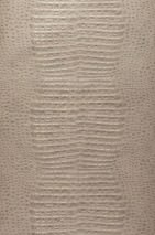 Wallpaper Gavial Matt Imitation leather Light ivory Pearl beige