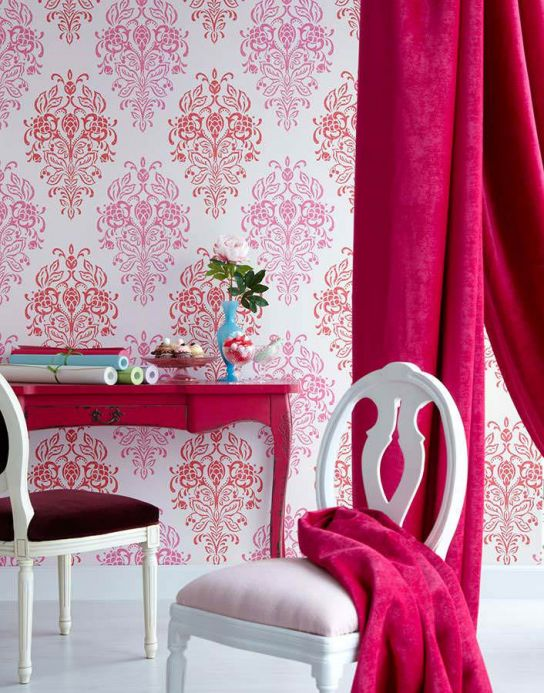 Archiv Wallpaper Nammu red Room View