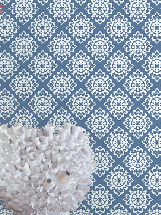 Archiv Papier peint Camella bleu brillant Vue pièce