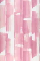 Wallpaper Pandero Matt Modern Art Stripes Pale red violet Light pink White