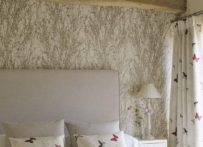 Amasa blanco crema beige gris ceo papel pintado - Papeles pintados de los 70 ...