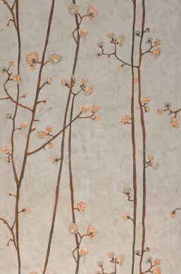 Papier peint VanGogh Branches gris beige clair Largeur de lé