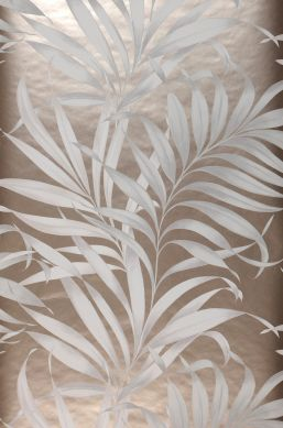 Papel pintado Paradiso blanco grisáceo Ancho rollo