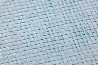 Wallpaper Mystic Weave 05 Matt pattern Shimmering base surface Solid colour Mint turquoise Light blue