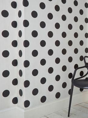 Papel pintado Teena negro Ver habitación