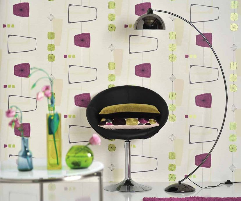 Archiv Wallpaper Isola dark heather violet Room View