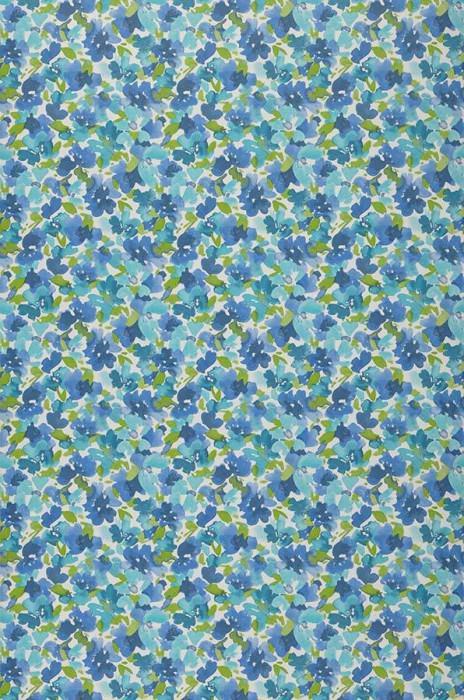 Wallpaper Marielle Matt Blossoms White Blue Yellow green Turquoise blue