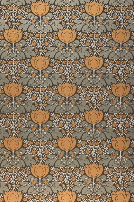 Papier peint design Papier peint Marina brun ocre nacré brillant Largeur de lé