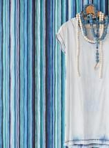 Papier peint Zeno Mat Rayures Violet pastel Noir Bleu turquoise Bleu d'eau Noir