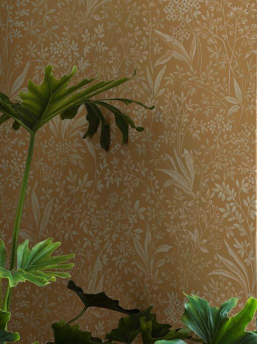 Country style Wallpaper Wallpaper Pilar ochre Room View