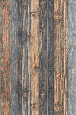Carta da parati Used Wood beige marrognolo Larghezza rotolo