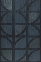 Wallpaper Salima Matt Graphic elements Blue grey Grey blue Moss grey shimmer Black