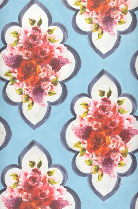 Archiv Papel de parede Malona azul claro pastel Largura do rolo
