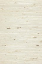 Wallpaper Grasscloth 02 Matt Solid colour Cream Light ivory