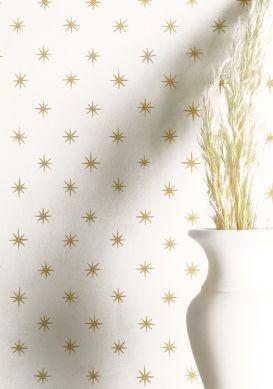 Papel de parede Golden Stars ouro brilhante Raumansicht