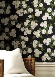 Wallpaper Hydrangea black