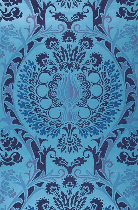 Archiv Wallpaper Belisama capri blue Roll Width