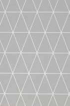 Wallpaper Svarog Matt Triangles Plaid Grey White
