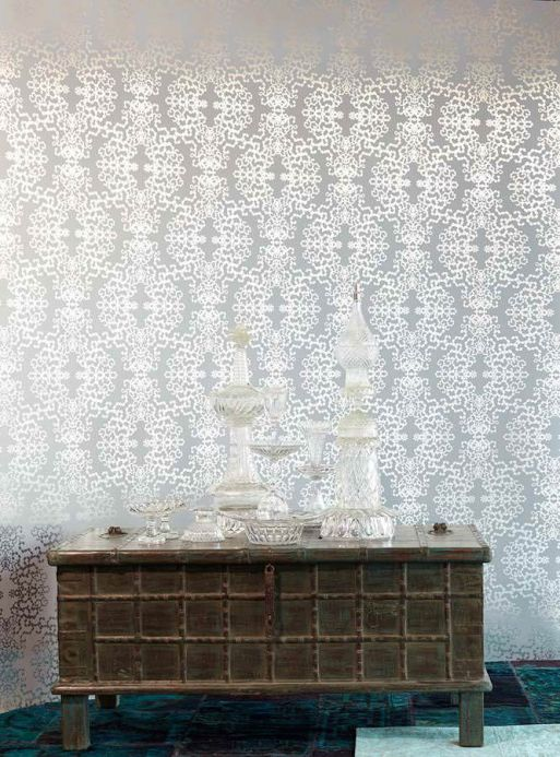 Archiv Wallpaper Anahita silver lustre Room View