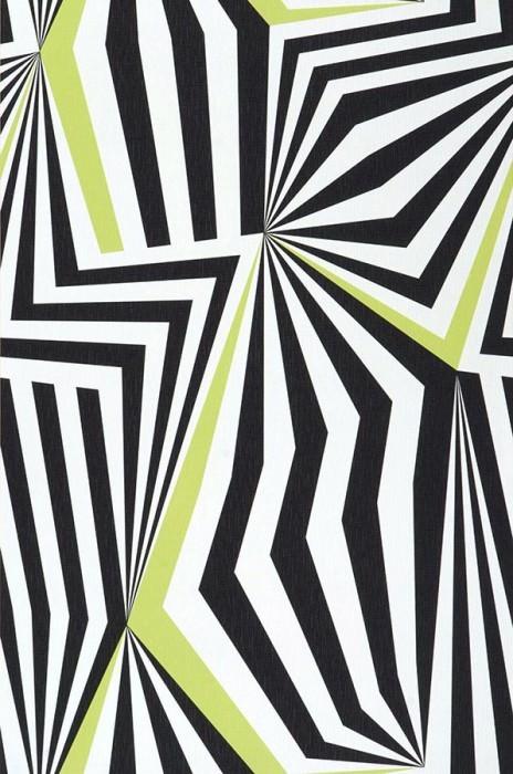 Wallpaper Dorus Matt Modern Art White Yellow green Black