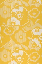 Wallpaper Catia Matt Blossoms Lemon yellow Grey white