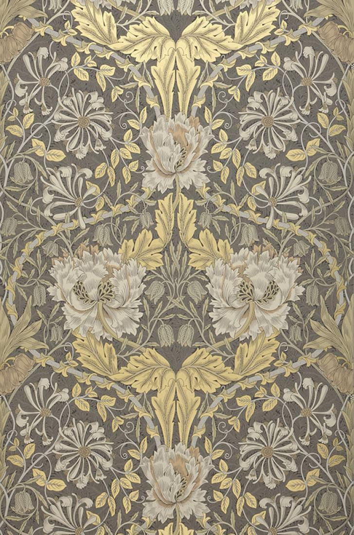 papier peint penelope anthracite gris beige ivoire ivoire clair beige nacr or nacr. Black Bedroom Furniture Sets. Home Design Ideas