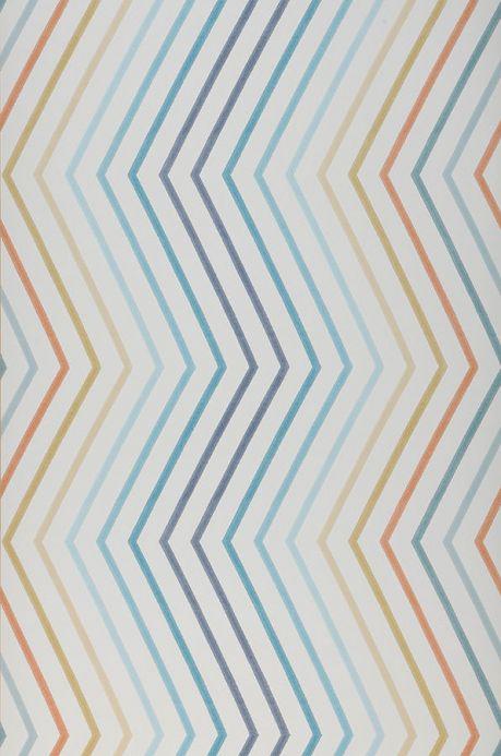 Archiv Wallpaper Hornus blue Roll Width