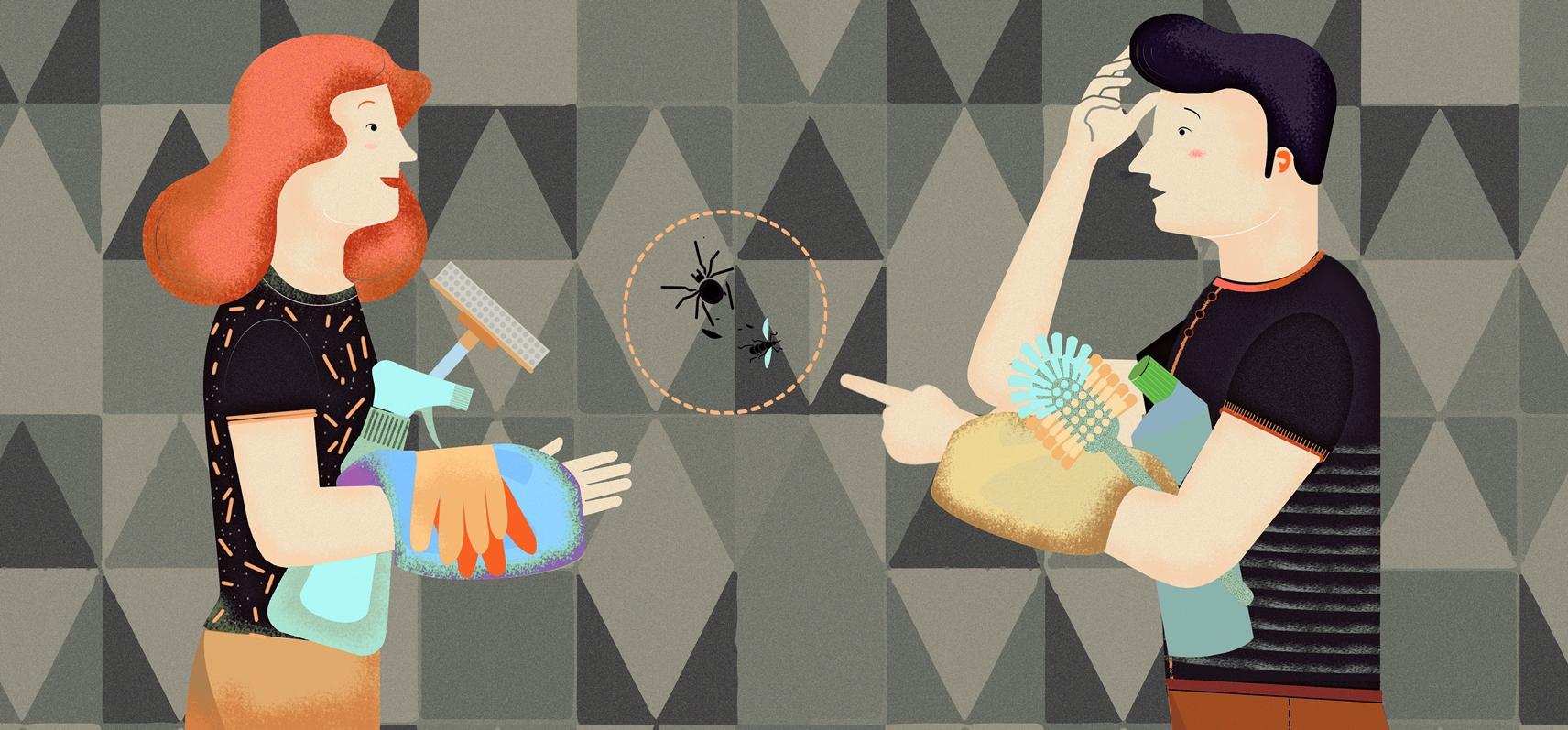 insektenflecken auf tapete entfernen und vermeiden tapeten der 70er. Black Bedroom Furniture Sets. Home Design Ideas