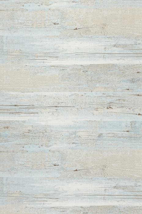 Wallpaper Sakul Matt Old wooden boards Pale turquoise Cream Light ivory Light grey brown