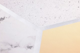 Wallpaper Novara Shimmering pattern Matt base surface Hexagons Imitation marmor Graphite grey Grey white Light yellow Pale yellow Silver shimmer