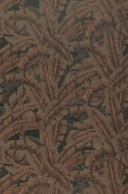 Wallpaper Flavia Matt Leaves Grey brown Brown tones
