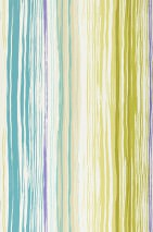 Wallpaper Cosima Matt Stripes Cream Blue lilac Yellow green Light yellow green Light grey beige Turquoise