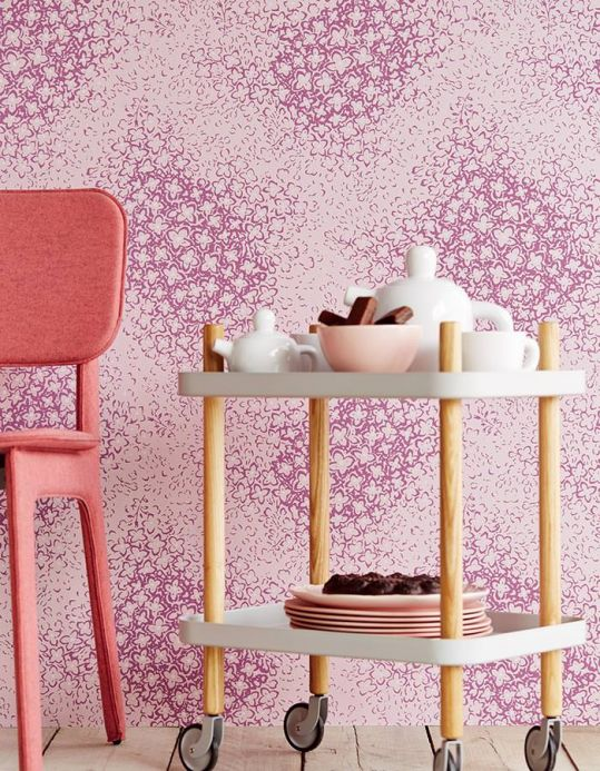 Archiv Wallpaper Stopela pastel violet Room View