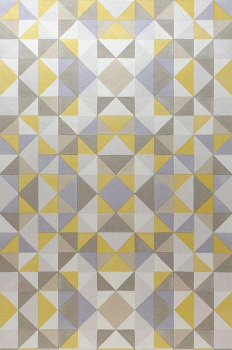 Sirius gris beige beige gris m re nacr e jaune citron - Papier peint graphique noir et blanc ...