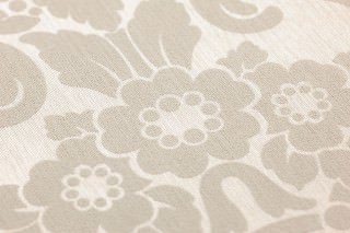 Wallpaper Leandra Shimmering Baroque damask Light ivory Light grey beige