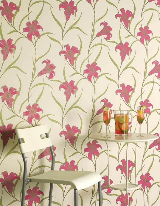 Archiv Wallpaper Hellen heather violet Room View