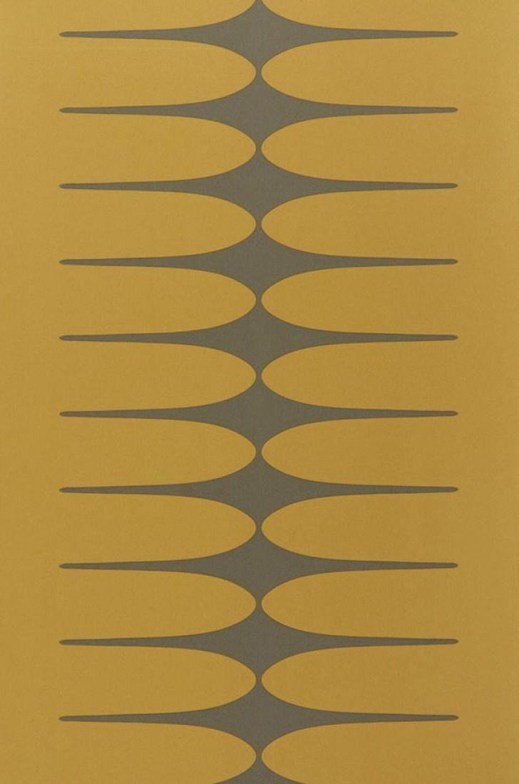 papier peint tamaki ocre gris papier peint des ann es 70. Black Bedroom Furniture Sets. Home Design Ideas