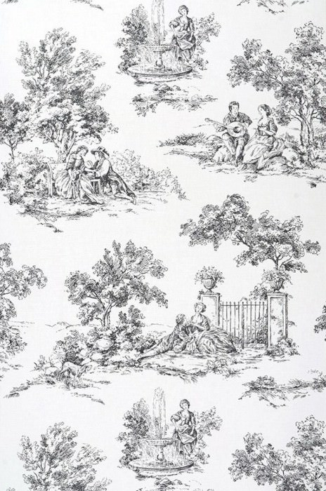 Wallpaper toile de jouy white black wallpaper from - Papel pintado toile de jouy ...