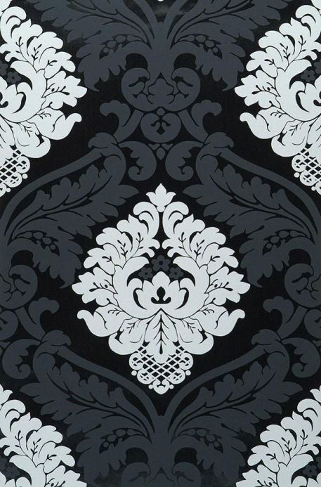 Archiv Wallpaper Rajah black lacquer Roll Width