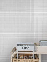 Wallpaper Alvar grey white